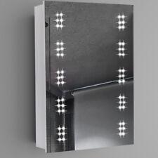 500x700mm Illuminated 60 LED Bathroom Mirror Cabinet Shaver Socket Motion Sensor