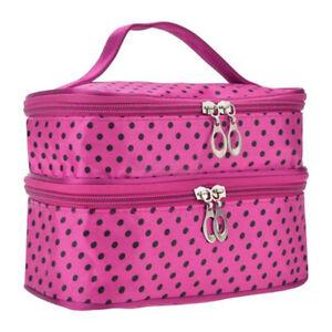 Women Large Makeup Bag Vanity Case Travel Cosmetic Organizer Beauty Storage Box