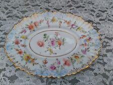Antique Ambrosius Lamm,Dresden Oval dish 6.10 inches
