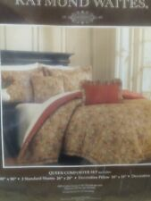 queen size comforter set with pillow shams.