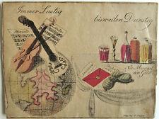 Rarität: Biedermeier Ziehkarte mit Spruch, G. Gruber Wien, um 1820, Lithokarte