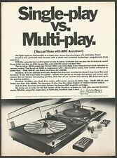 ADC ACCUTRAC 4000 Turntable - 1979 Vintage Print Ad