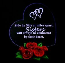 Mother's Day Gifts for Sisters LED Hearts Rose Base for Birthday Sister
