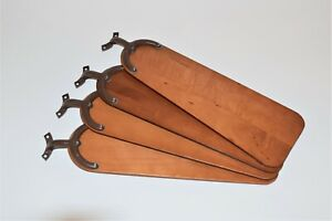 """HUNTER ORIGINAL CEILING FAN PARTS - SOLID WOOD BLADES / BROWN IRONS 36""""/38"""""""