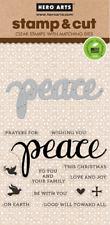 Hero Arts Stamp & Cut Peace #833 DC187 Stamp with Die