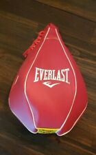 Large Everlast Red Leather Speed Bag 4Lb Boxing Mma