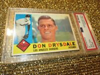 Don Drysdale 1960 Topps MLB Los Angeles Dodgers #475 PSA 4
