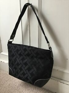 Talbots Black Pattern Shoulder Handbag