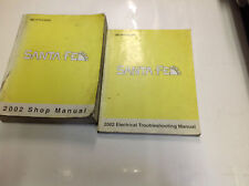 2002 HYUNDAI Santa Fe Service Repair Shop Workshop Manual Set W Wiring Diagram