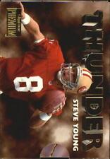 1996 SkyBox Premium Thunder and Lightning 49ers Football Card #5 J.Rice/S.Young