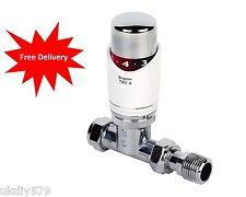 Drayton TRV4 White & Chrome Thermostatic Radiator Valve 15mm Stright 0705084