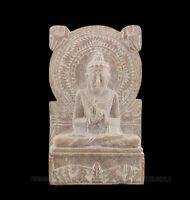 Statuetta Da Lord Budda Sarnath IN Pietra Intagliato Alla Mano India S2 A