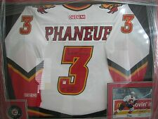 Dion Paneuf Autographed Calgary Flames Jersey - FRAMED  W/Puck & Photo