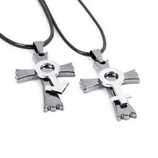 Stainless Steel Cross crucifix  pendant  necklace with string fashion jewelry