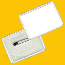 Medium Sized Rectangular Acrylic Custom Personalised Badge - Design Your own