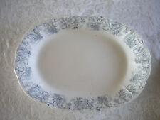 "Vtg John Maddock Sons Royal Vitreous Meredith or Rococo Large 16"" Platter Blue"