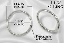 "10pcs - 1 1/2"" Metal O Rings O-Ring  Non Welded NICKEL (ORG-124)"