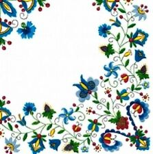 4 X Single Paper Napkins Classic 3d Beige Flowers Pattern Decoupage Crafting 19