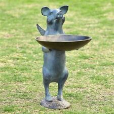 Spi Home Winged Pig Bird Feeder Garden Sculpture Statue Birdfeeder 34049