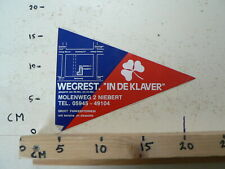 STICKER,DECAL WEGREST IN DE KLAVER MOLENWEG NIEBERT LARGE FLAG 20 CM