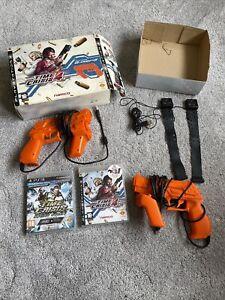 NAMCO Time Crisis 4 Sony PS3 2x G-Con 3 Gun & Sensors Boxed Rare Quick Dispatch