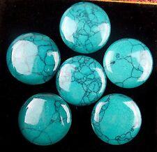 wholesale 6pcs Beautiful round green Turquoise CAB cabochon BC3817