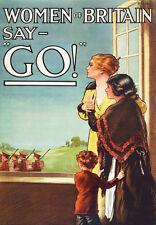 "20x30"" CANVAS Decor.Room design art print..Women of Britain say Go to war.6180"