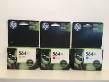 HP 564XL Ink Cartridges Color Set Of 3 - Yellow, Magenta, Cyan NIP New