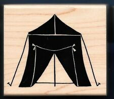 CAMP TENT OUTDOORS GEAR SPIKES Temporary Home JRL Design Co wood RUBBER STAMP
