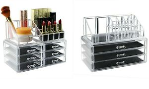Makeup Organizer Acrylic Transparent Drawers Dust-Proof Cosmetic Lipstick Holder