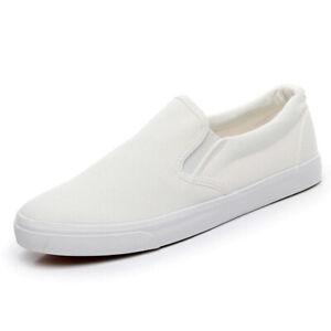 Squid Game Shoes White Player's Slip Ons Sneakers Jogging Walking Running Dorama