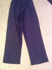 High 5 basketball pants Size Youth Large snap legs warmup jogging blue