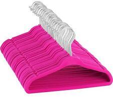 "Kids Velvet Hangers - 50 pack - 14"" wide -(Pink)"