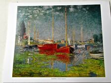 Claude Monet Red Boats at Argenteuil Offset Lithograph 14x11