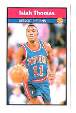 Isiah Thomas 1992-93 Detroit Pistons Basketball Italian Panni Sticker card