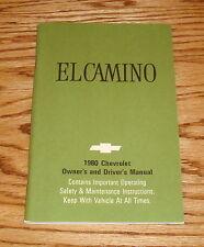 1980 Chevrolet El Camino Owners Operators Manual 80 Chevy