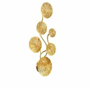 New Copper Lustre Gold Lotus Leaf Wall Lamp Vintage Retro Wall Sconces G4 Bulb