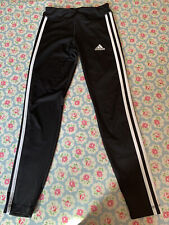 Adidas Performance 3 Stripe Leggings Age 13-14 Black