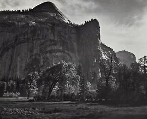 1959 Vintage ANSEL ADAMS North Dome Royal Arches Yosemite Valley Photo Art 11X14