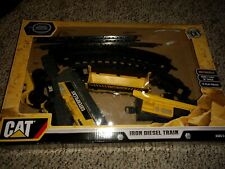 Cat Caterpillar Construction Iron Diesel Train Motorized 7ft track