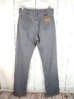 Men's WRANGLER Jeans Gray 32x36 100% Cotton MADE IN USA