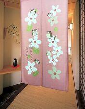 Japanese Noren Curtain Tapestry Cute Owls Door Curtain