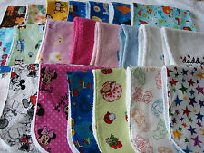 Pack of 3 Burp Cloths Your Choice Handmade