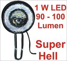 Vorderlicht Scheinwerfer Frontlicht Fahrradbeleuchtung 1 W 90 - 100 Lumen Neu