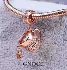 Genuine GNOCE New York Coffee Sterling Silver 18k Rose Gold Plated Charm NEW!