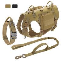 Dauerhaft taktisches Hundegeschirr mit verstellbarer K9 Trainingsweste mit Griff