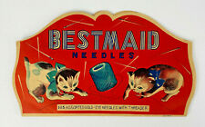 Vintage Sewing Needles Bestmaid Kittens