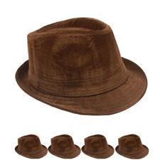 Fedora Hat VELVET WINTER WOMEN MEN  BROWN Wedding Formal CAP
