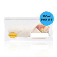 NEW Sinchies Wrap Bags Reusable Lunch Pouches BPA Free Pack of 5 New Design