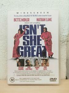ISNT SHE GREAT DVD - Bette MIDLER movie Nathan LANE - AUSTRALIAN REGHION 4